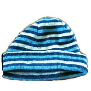 Unisex blue & gray beanie one size